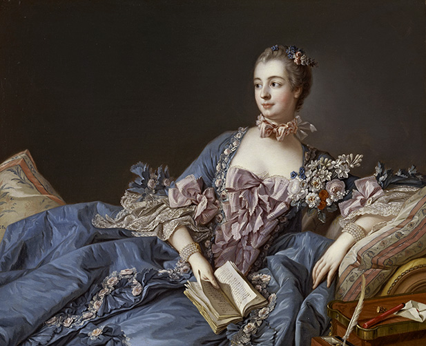 Portrait of Madame de Pompadour.